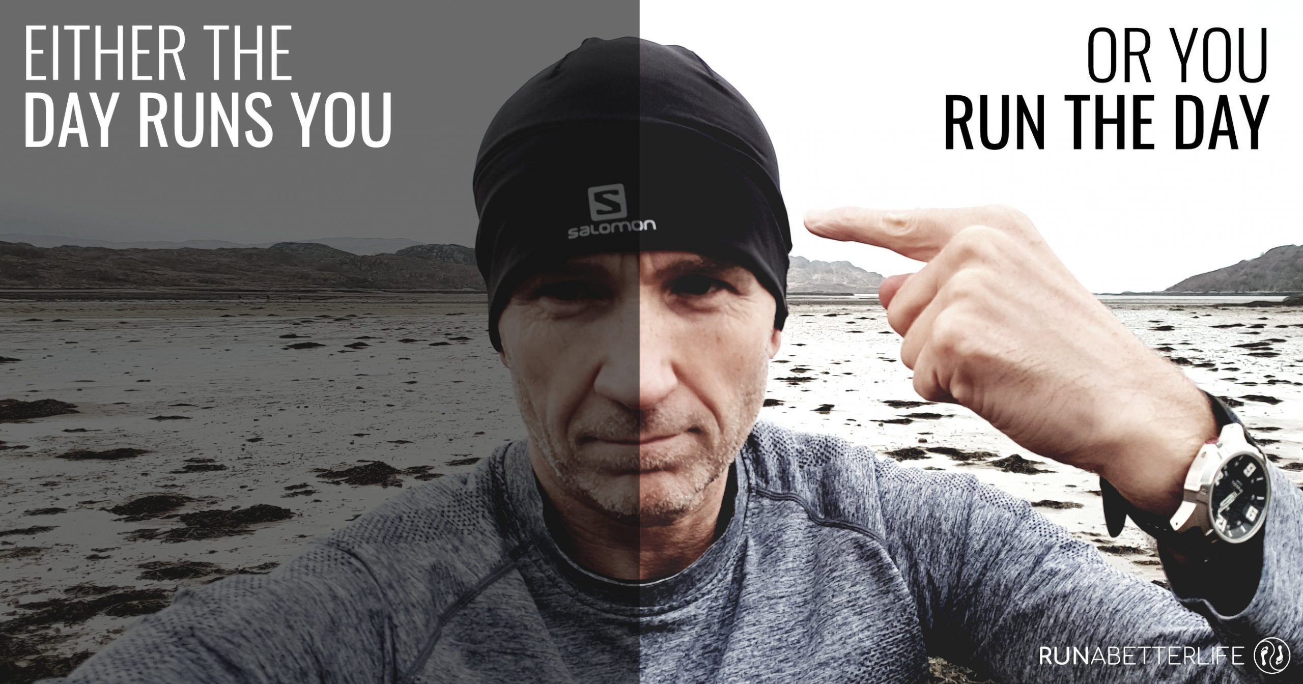 James Eastwood (runabetterlife.com) pointing to a runner's brain