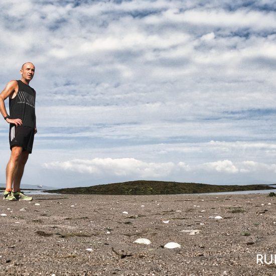 James Eastwood runner (Run A Better Life) on beach