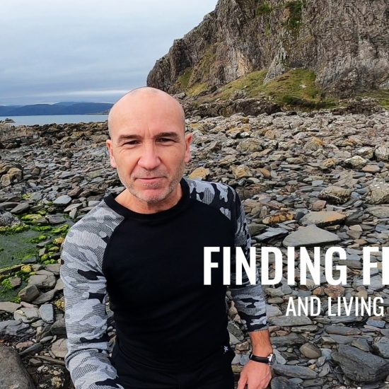 James from Run A Better Life on Atlantic coast in Scotland